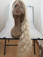 beach hairstyles - beautiful blonde beach wave wigs with natural parting deep wave high quality synthetic lace front wig heat resistant fiber