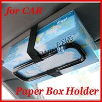 auto tissue holder - Brand new and high quality Car sun visor Tissue paper box holder Auto seat back accessories hold clip
