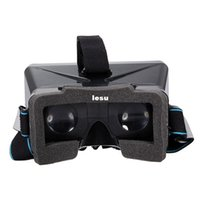 Wholesale New Arrive Black Universal Virtual Reality D Video Glasses for to inch Phones Google Cardboard Movie Cinema Convenient