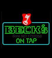 beer tap display - Beck On Tap Key Label Neon Beer Sign Handicraft Real Glass Tube Beer Light Display Avize Nikke Air Jordann Neon Sign x24