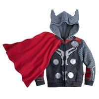 Wholesale new Autumn cartoon superman Children Outerwear vestidos hooded sweatshirt kids clothes baby boys coat free
