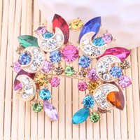 Wholesale Big flower high grade lovely crystal brooch fashion jewelry