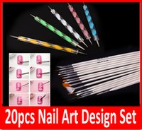 Wholesale New Professional Nail Art Brush Set Design Painting Pen Perfect Tools High quality