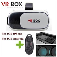 Wholesale 2016 VR box version Version Head Mount Plastic Virtual Reality Glasses D Game Movie for with Bluetooth controller