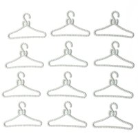doll clothes hangers - New Arrival Mini Gray Plastic Coat Dress Rack Hanger for Barbie Doll Clothes Collector Lowest Price