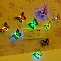 baby nightlights - Flashing Colorful Butterfly LED night light baby bedside lights Indoor lighting decorations Party Decor Christmas Nightlights