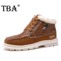 work boots - Fashion Winter Boots Men Ankle Boots Genuine Leather Boots Men Luxury Shoes Winter Warm Velvet Shoes Fur Plus Size