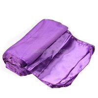 Wholesale 10Pcs Satin Table Runners x275cm Wedding Party Decorations Supply Purple hv3n