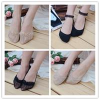 Wholesale Women lace sock slippers wedding socks for heels