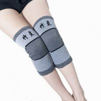 Wholesale Slimming Bamboo High Quality - 2015 Wholesale High Quality GYM Bamboo Charcoal Kneepad Outdoor Basketball Sports Cycling Slim Fit Soft Knee Pads ZXI