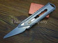 flick knife - Titanium TC4 Mini EDC mm Long Utility ART Knife Cutter One piece D Shell Gears Flick Carving Handle