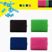 Wholesale LSS Portable Zipper Soft Sleeve Case Bag Notebook Cover Light Weight Durable Anti scratch for MacBook Air quot Laptop Ultrabook C2394