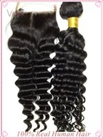 outre - Deep Wave Brazilian Hair Outre Human Hair Weave A Best Peruvian Virgin Hair with Lace Closure