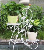 Wholesale European pure color wrought iron flower three layers of the balcony sitting room bedroom ground flowerpot