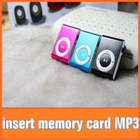 Wholesale 2014 HOT Colorful Sport Mini Clip MP3 Playerl mp3 Comes with Earphones USB Cables Retail Boxes Support Micro SD TF Cards