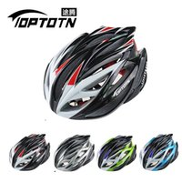 Wholesale TOPTOTN T186 brand pro bicycle cycling helmet Ultralight and Integrally molded air vents bike helmet Dual use MTB or Road
