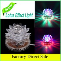 best effect - Lotus Effect Light Auto Rotating W LED RGB Crystal Stage Light Bead Lamp for Home Decoration DJ Disco Bar Best Gift