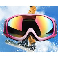 Wholesale Snow Ski Snowboard Goggles Anti Fog Orange Frame Monolayer Colored Lens NEW HW51