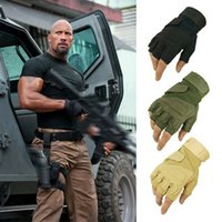 Wholesale Blackhawk tactical gloves USA hell storm special forces slip mountaineering fitness outside fighting half finger Leather gloves