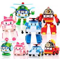 Wholesale robot car poli toys car robot transformation toys robot transformer car Poli Helly Amber Roy South Korea Thomas Kids Gift Plastic Car toy