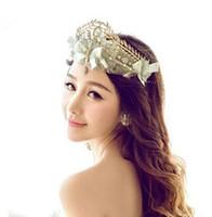 Moda encaje hilado neto con diamantes de imitación Tiaras corona pelo accesorios para boda Quinceanera Tiaras y coronas concurso joyería del pelo