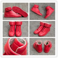 Wholesale Maison Martin Margiela MMM Future Kanye West Sneakers High Top Luxuries Genuine Leather Men s Fashion Casual Shoe All Red
