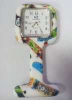 nurse gifts - Colorful Prints Silicone Nurse watch Pocket Watches Doctor Fob Quartz Watch Kids Gift Watches Fashion Patterns