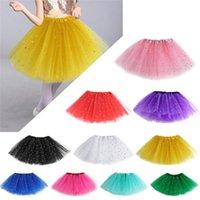 ruffle yarn - Hot Sales Cute Baby Kids Girl Children s Princess Ballet Tutu Skirts Pettiskirt Polyester Net Yarn Glitter Dots Dance KA1