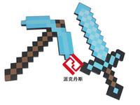Wholesale 2pcs Optional Minecraft Toy Diamond Sword Pickaxe Game Design Minecraft Foam Mosaic Children Toys Gifts
