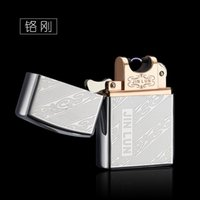 arc fashion - Windproof Metal Electric Arc Pulse Usb Lighters Rechargeable Flameless Electronic Lighters Usb Lighter fashion Windproof Lighter