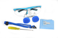 Cheap Blue CE New Dentist Dental Surgical Medical Binocular Loupes 2.5X420mm Optical Glass Loupe