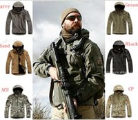 Wholesale 2016 High quality Lurker Shark skin Soft Shell TAD V Outdoor Military Tactical Jacket Waterproof Windproof Sports Army Clothing