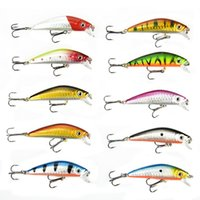 Wholesale Plastic Minnow Bass Fishing Lure Hard Bait Tackle cm quot Baits Lures Fishing Tools DHL