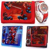 auto spider man - Spider Man Children s Watch Wallet Set For Kids Boys Girls Great Christmas Gift