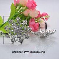 Cheap (S0221)58mm 100pcs lot Elegant Wedding Rhinestone Napkin Rings ,Napkin Holders,nickle or light rose gold plating,ring size:40mm