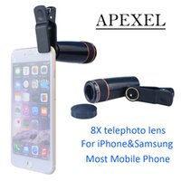 apl shipping - Apexel shutterbug necessary X Zoom Mobile Phone Telescope Lens for Samsung Galaxy iphone HTC phone lens APL XSJ
