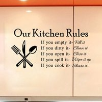 accessories gift stickers - Removable Letter kitchen restaurant Wall Stickers Vinyl Art Wall Sticker For Beautiful Decal Decor Home Accessories Decoration