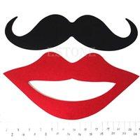 Envío 2pcs favor de fiesta divertido Máscaras Photo Booth Atrezzo bigote en una fiesta de bodas del palillo pedir $ 18Nadie pista