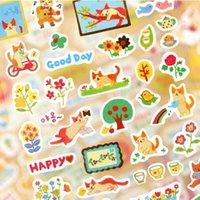 Wholesale 6PCS pack ZAKKA DIY Sweet Korea Cartoon Golden Cat series sticker decoration stickers school stationery supplies
