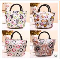 Wholesale Cute fashion waterproof bag lunch bag lunch box printing new handbag small bag hand bag handbag