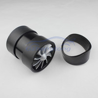 Wholesale F1 Z Double Supercharger Turbine Turbo charger Air Intake Fuel Saver Fan Black Color