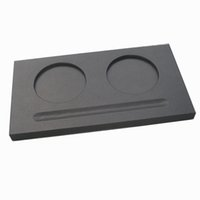 leather coaster - Wooden struction with leather covered cup mug saucer board and pen trough holder coaster Black A041