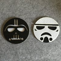 Wholesale Star Wars Cup Pads Cartoon Darth Vader White Soldiers Double Layer Cloth Felt Cup Mat Kitchen Drink Tool Top Quality