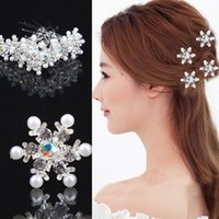 Wholesale Shinning Snowflake Stunning Whosale Wedding Jewelry Accessories Bridal Women Prom Clips Beaded Custom Headpieces Hair Clips Barrettes WWL
