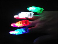 Wholesale 2000pcs LED finger light DHL color Leaser finger lamp chrismas night light flashing children toy party toy