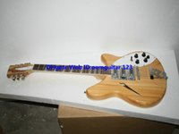 12 string guitar - 12 strings Deluxe Model Electric guitar in Natural Semi Hollow High Quality guitars