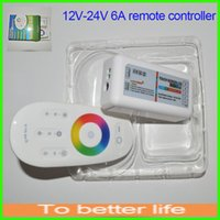 Wholesale RF Remote Controller DC V V A G RGBW Touch Screen Four Channels Wireless for RGBW LED Strip RGB