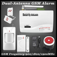 auto dialer gsm home alarm - 2016 New Wireless wired GSM Voice Home Security Burglar Android IOS Alarm System Auto Dialing Dialer SMS Call Remote control setting white