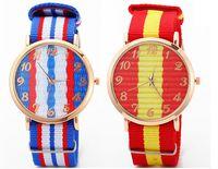 Wholesale 2015 Fashion Simply Geneva Platimum Nylon Fabric mens women watch sport thin wrist Canvas quartz watches for men women pc