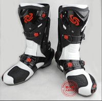 motocross boot - New Motorcycle Boots Men Fashion Design Motorcycle Boots Pro Biker Speed Racing Boots Motocross Boots Motorbike Size